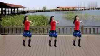太湖一莲广场舞《我情愿做你的手机》原创附教学