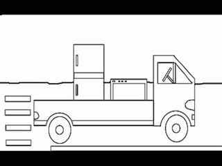 儿童简笔画教程:大卡车
