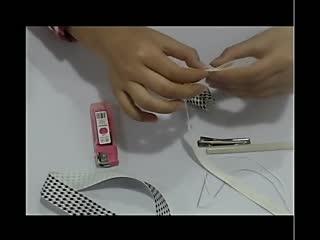 手工制作:牛角发饰
