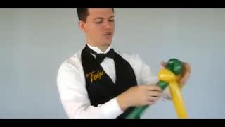 长气球造型教程步骤 简单气球造型 兔子手拿棒