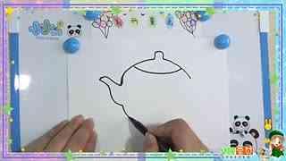 儿童简笔画教程:卡通茶壶图片