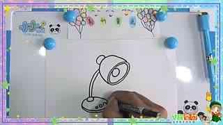 儿童简笔画教程:卡通画台灯