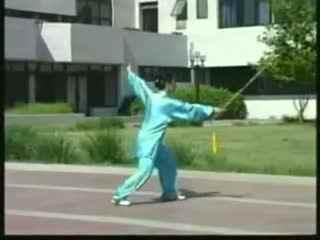 42式太极剑视频教学慢动作带口令背面整套示折纸教程衬衣视频图片