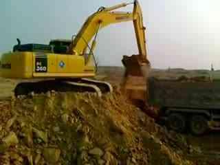 挖掘机视频表演大全 施工现场挖机装车4