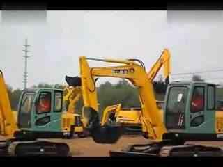 挖机操作技巧视频 挖掘机工作视频与微型装载机上装车