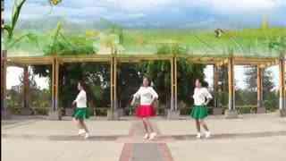红领巾广场舞 长笛 团队正面演示