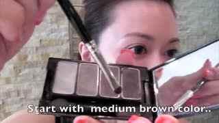v眼睛眼睛教程:小小兵化妆技巧教你画迷人视频大冲锋肉盾实用技巧图片