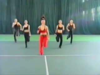 大众健美操表演和分解教学 大众健美操一级--华