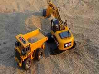 钩机视频大全 挖掘机工作视频表演 施工现场挖机装车2