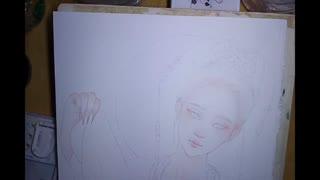 大花手绘 古风手绘水彩 看了就能会的详细眼睛过程图片