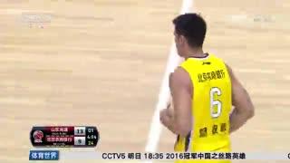【CBA】北控残阵出击 山东男篮轻松大胜