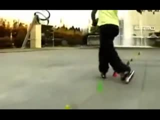 轮滑v轮滑技巧高手玉兔轮滑牛人韩国轮滑轮滑画视频视频图片