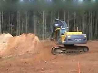 挖掘机 钩机视频 挖机工作表演 挖机视频表演 吊车挖掘机装车视频表演
