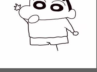 十分钟学画动漫人物--蜡笔小新