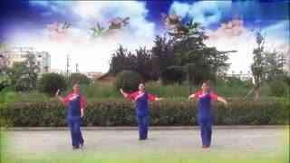 郏县花之舞广场舞《姑娘别走》