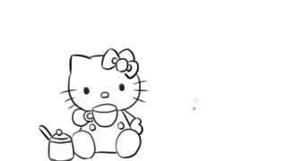 幼儿简笔画教学 超萌的q版卡通猫娘女孩