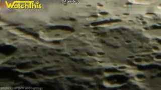 实拍美国天文台捕捉UFO飞过月球上空 竟和电影中描述的一样