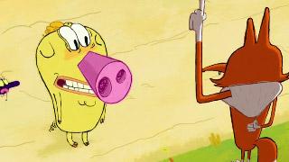 粉红鼻子猪