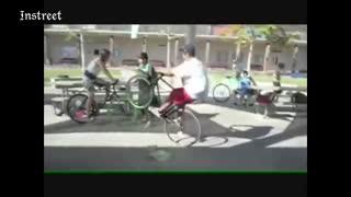 我见过最滑稽的一幕 飞速跑动的轮子突然怎么没了!
