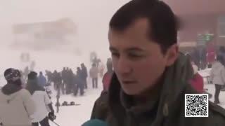 身后突发雪崩_土耳其雪场经理淡定受访
