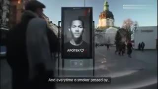 瑞典新创意-吸烟,广告上模特就咳嗽给你看