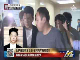女子诬告韩星性侵 被判两年有期徒刑