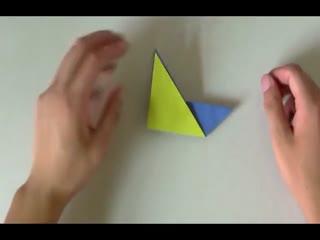 手工制作大全折纸 儿童简单小船的折法图片