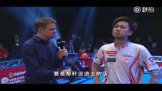 不懂英语提问也可以谈笑风生 英国九球大师赛日本选手获胜采访尴尬了