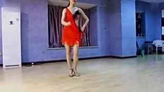 拉丁舞华数双人舞视频拉丁舞自我练习--伦巴TV金叉图解图片