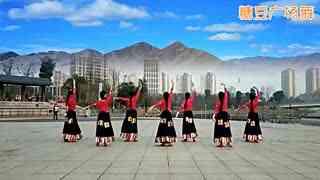 糖豆广场舞 沁人心脾的优美藏族舞 实在太美了!