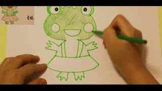 儿童绘画教程视频_儿童绘画入门教程 画青蛙 幼儿学画画基础教学视频--华数TV