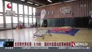 吉尼斯世界纪录:6.18米! 蹦床扣篮最远距离被刷新