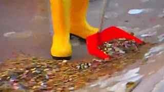 景点喷泉捡硬币一年赚百万