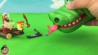 玩具破坏王 海绵宝宝变身大战鳄鱼大王