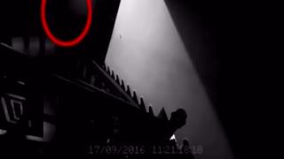 深夜室内楼梯口监控拍到奇异一幕屋主人知道什么情况吗