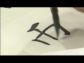 毛笔书法笔画视频 练书法学汉字 毛笔书法 楷书的结构