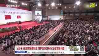 """习近平:确保""""一国两制""""不走样不变形"""