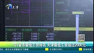 31省市最低工资排名 天津最低工资超过2000元