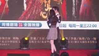 《秦时丽人明月心》热巴张彬彬角色互换表演强吻,忍不住笑场!