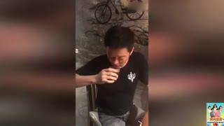 吴京连喝三杯酒感谢《战狼2》主创 你们辛苦了