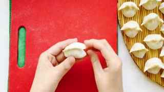 水饺的包法_沙县小吃水饺包法视频 绿茶酱肉饺的做法--华数TV