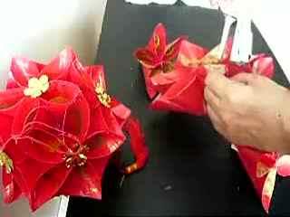 喜庆红灯笼制作教学 花灯制作方法 手工制作绣球灯笼