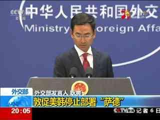 """外交部:敦促美韩停止部署""""萨德"""""""