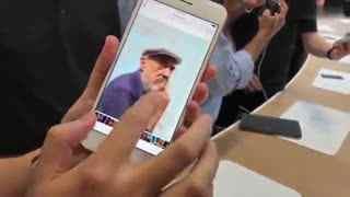 苹果iPhone8现场上手 无线充电+超强拍照