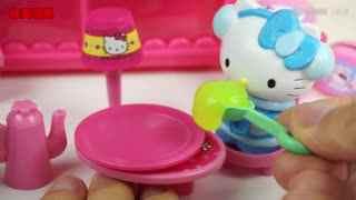 凯蒂猫玩具迷你小房子,Hello Kitty 厨房煮饭过家家!