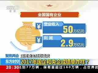 国资委主任肖亚庆:2017年国企和央企成绩单咋样?