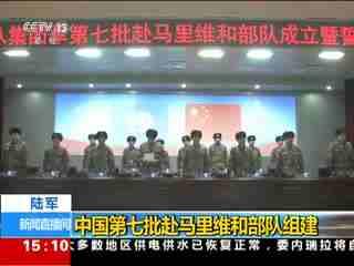陆军:中国第七批赴马里维和部队组建