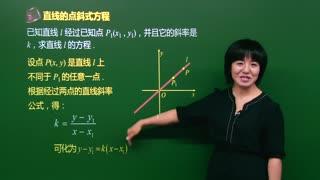 高中数学直线与方程  第8集