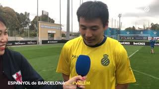 武磊训练采访首谈赛后生活