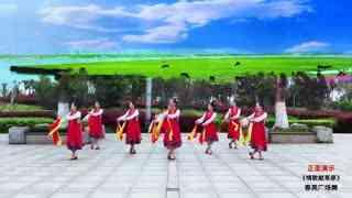 春英广场舞《情歌献草原》蒙族筷子舞队形加分解贺糖豆4周岁生日